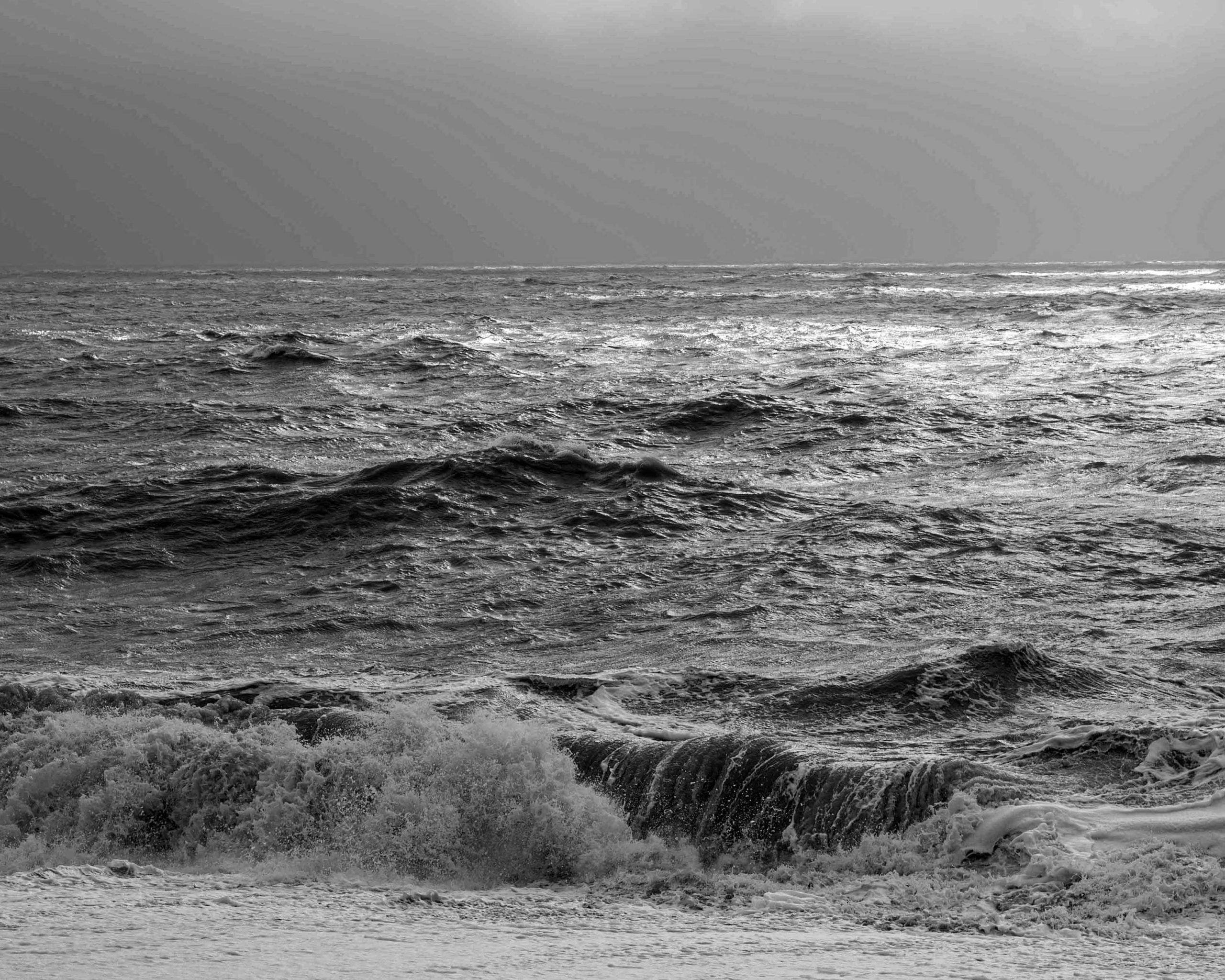 Seaford beach rough waves